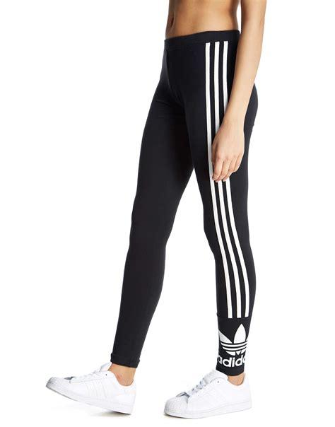 adidas legging adidas originals 3 stripe trefoil leggings jd sports