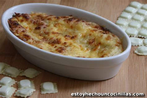 como cocinar ravioles ravioles gratinados