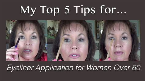 r styles for 60 and up my top 5 eyeliner application tips women over 60 youtube