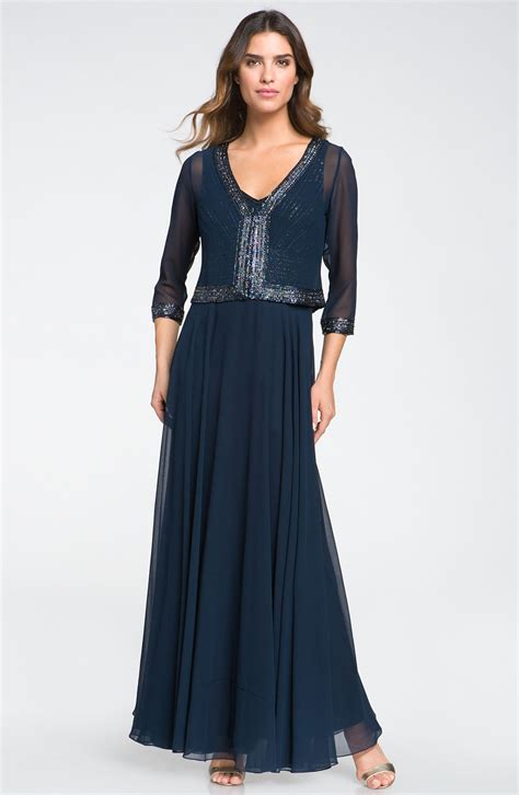 A Pretty Embellished Navy Dress From Warehouse by J Kara Embellished Dress Jacket In Blue Navy Navy Lyst