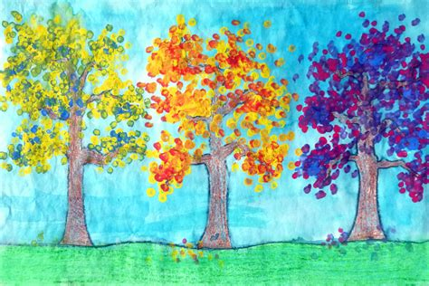 color painting secondary color fall trees porterspaintpalette