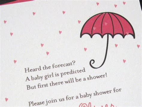 Baby Shower Reminder Wording by Forecast A Chance Of Baby Shower In A Card