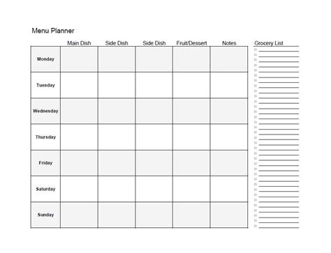 printable diet plan template 40 weekly meal planning templates template lab