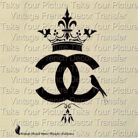 pattern logo chanel coco chanel logo a beautiful vintage transfer от