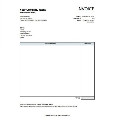 blank invoices templates blank invoice excel hardhost info