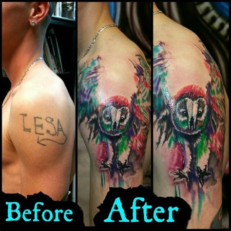 watercolor tattoos before and after before and after 1 session on gunner check out sick