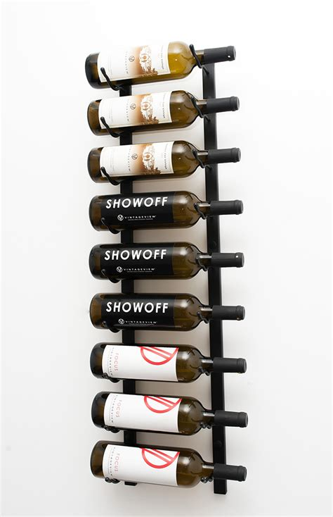 Wall Wine Rack Metal by 3 Ft Wall Series Metal Wine Rack 9 To 27 Bottles