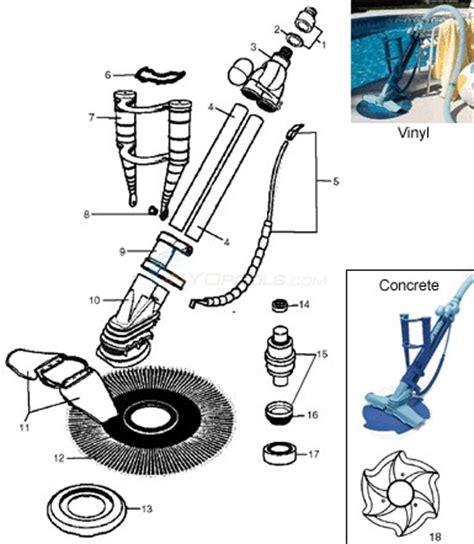 kreepy krauly parts diagram kreepy krauly model 2000 to current parts inyopools