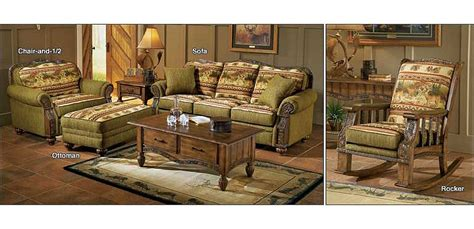 cabelas couch pine cone lodge collection forest deer furniture cabela s