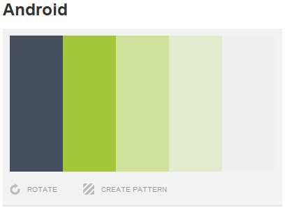 android color palette android code fragments tip choosing a color palette theme