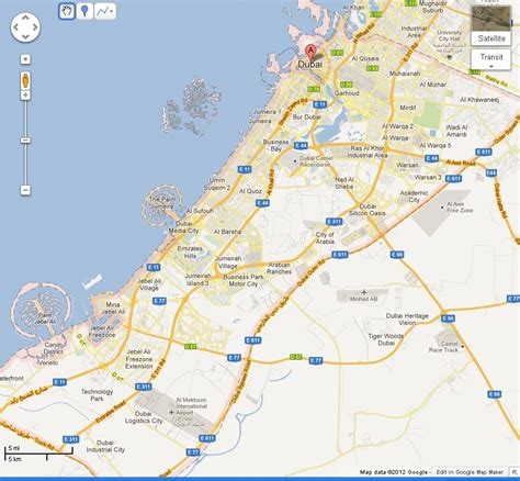 dubai in map dubai in world map images
