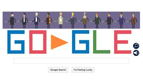 doodle dr who turns logo into doctor who for 50th