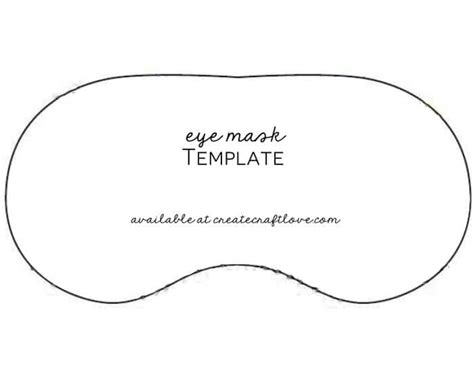 printable eye mask template diy eye mask