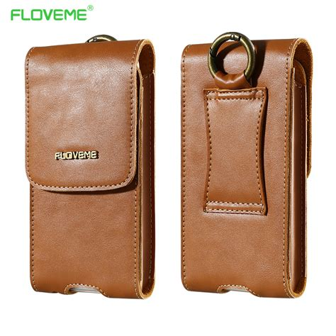 Shiny For Iphone4 4s 5 5s 6 6s 6 Samsung Grand Prime Un71 floveme genuine leather wallet protective phone clip