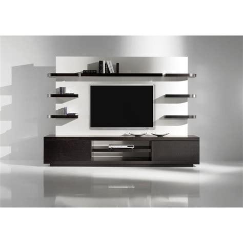 black media storage cabinet floating media cabinet rectangle brown varnished teak wood