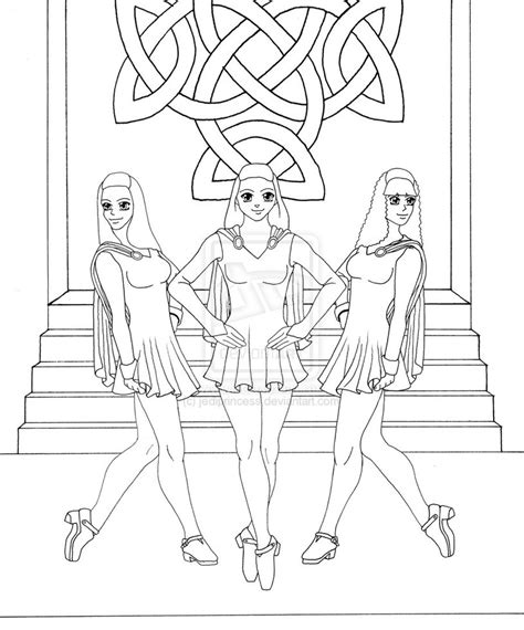irish dance coloring coloring pages