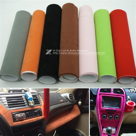 velvet car interior 135 30cm 8 colors velvet fabric velvet suede car