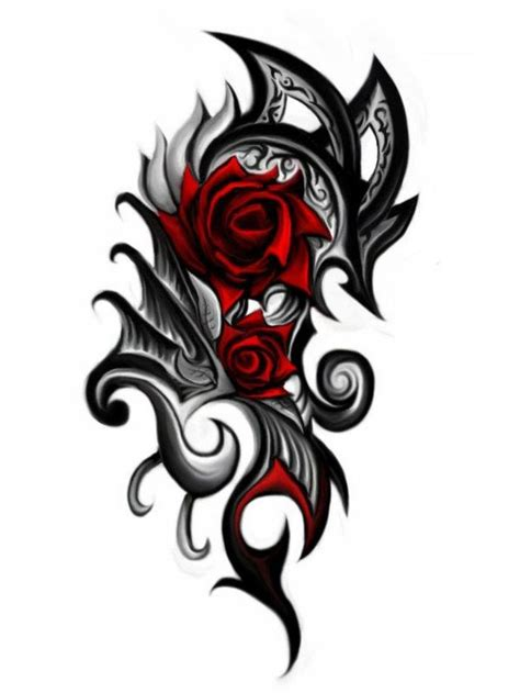 black and red rose tattoo designs 24 tattoos and design ideas