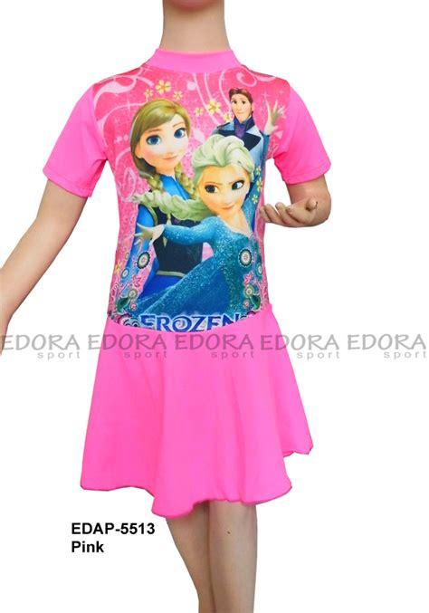 Baju Renang Diving Rok Tanggung baju renang diving rok karakter edap 5513 pink distributor dan toko jual baju renang celana