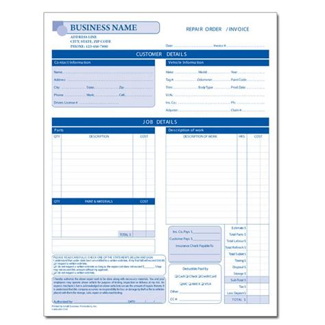 printable auto body repair estimate forms hardhost info