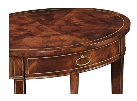 high quality furniture oval side table bernadette livingston furniture provides the finest in
