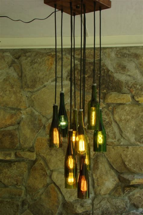 Wine Bottles Chandelier Wine Bottle Chandelier Aftcra