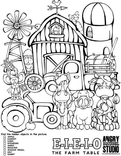 animal coloring pages pdf 8 best images about the farm animal table on