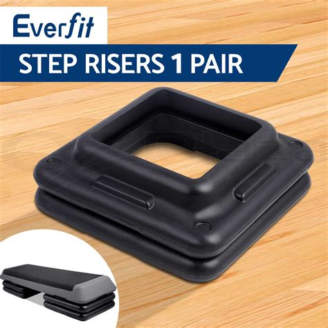 step bench risers aerobic step risers everfit gym fitness workout exercise