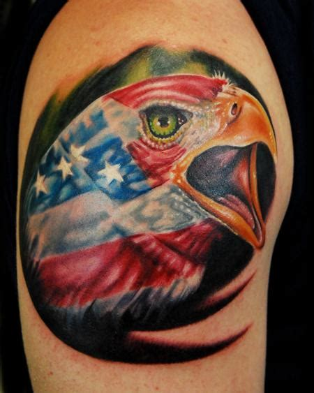 american eagle by justin buduo tattoo inspiration