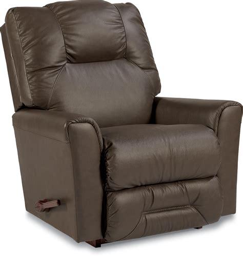easton leather rocker recliner easton casual reclina rocker 174 recliner by la z boy wolf
