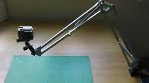 how to make a swing arm how to make an overhead camera swing arm mount youtube
