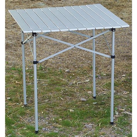 aluminium roll up table cing guide gear 174 xl aluminum roll top table 172574 tables