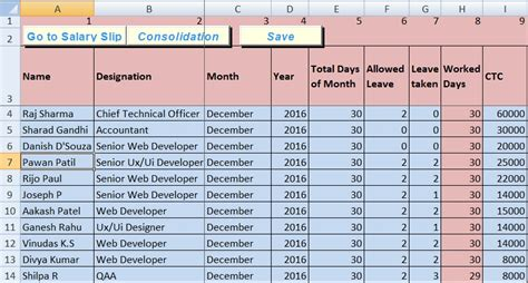 pay structure template salary sheet excel template exceldatapro