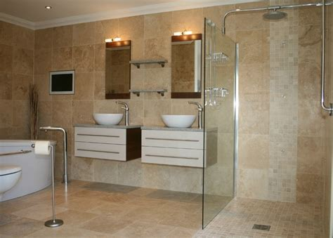 modern bathrooms tiles travertine tiles modern tile by tiles