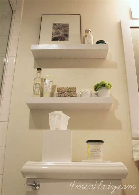 17 best ideas about floating shelves bathroom on