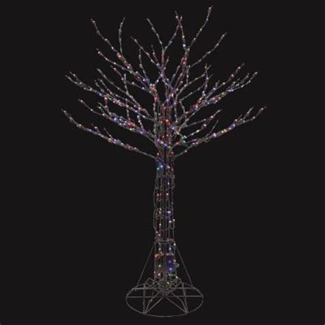 led smart tech lighting tree 6 ft pre lit led deciduous tree sculpture with color