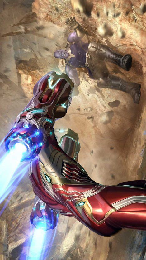 avengers endgame iron man  thanos fight iphone wallpaper iphone wallpapers