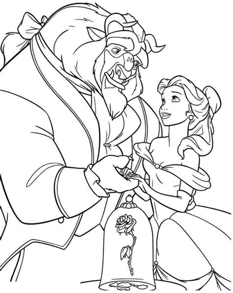 printable coloring pictures of beauty and the beast coloring pages beauty and the beast coloring home
