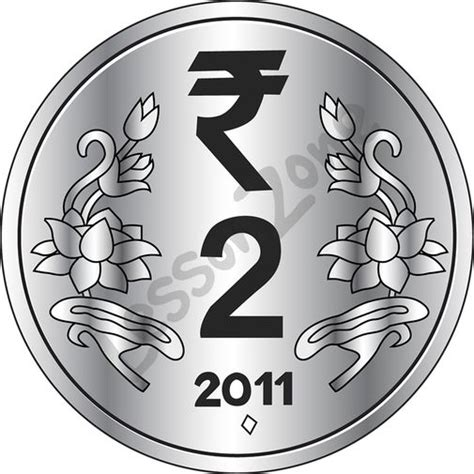 Coin Outline Clip by Lesson Zone Nz India 2 Coin