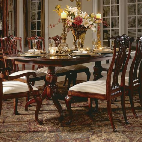 american drew cherry grove dining room american drew cherry grove 45th 792 744r double pedestal