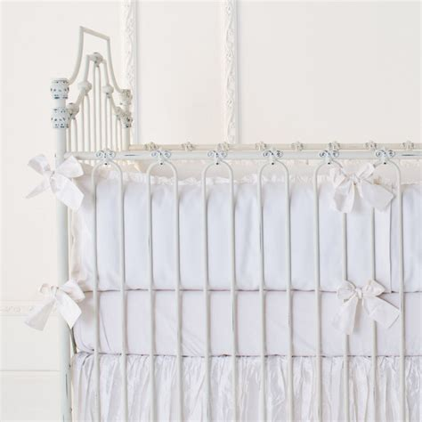 White Crib Sheets by Rosenberry Rooms