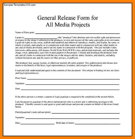 8 media release form template protect letters