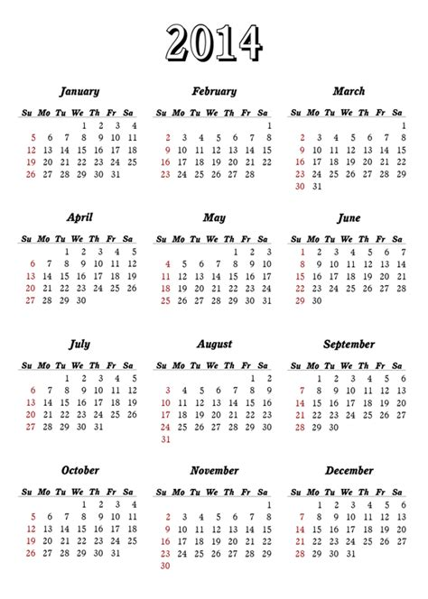 Calendario 2014 Para Imprimir Fotos Calendario 2014 Para Imprimir Imagem Pra