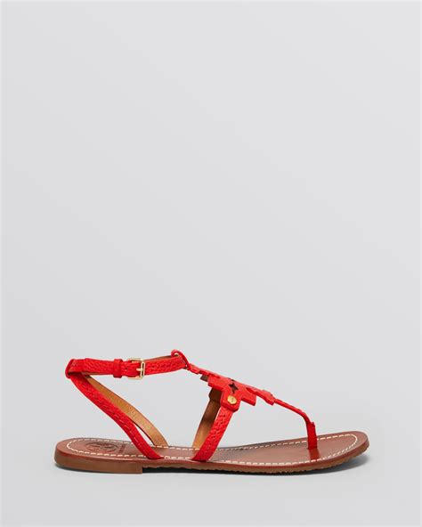 toryburch sandals burch flat sandals chandler logo in lyst