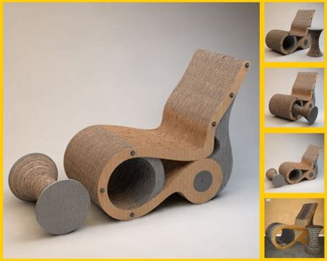 creative comforts furniture creative cardboard chairs to relax in comfort around the
