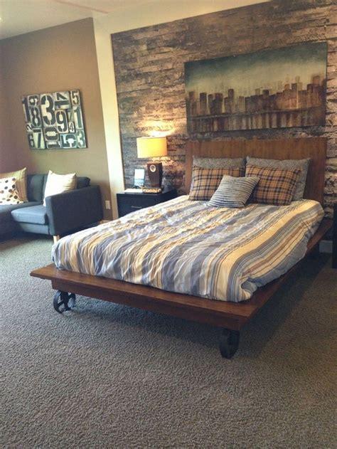 bedroom small bedroom ideas men gray carpet rustic wall