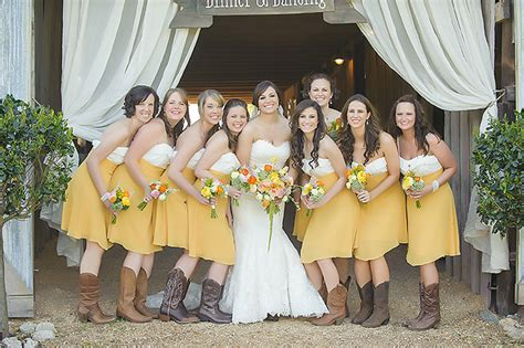 yellow bridesmaid dresses with cowboy boots DKGZ   Dresses Trend