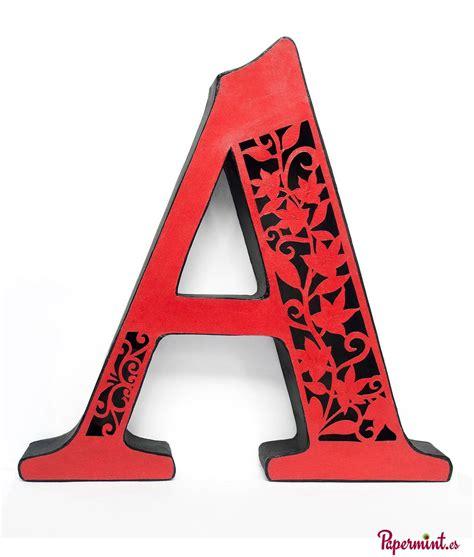 letras decoradas a letra decorativa floral papermint