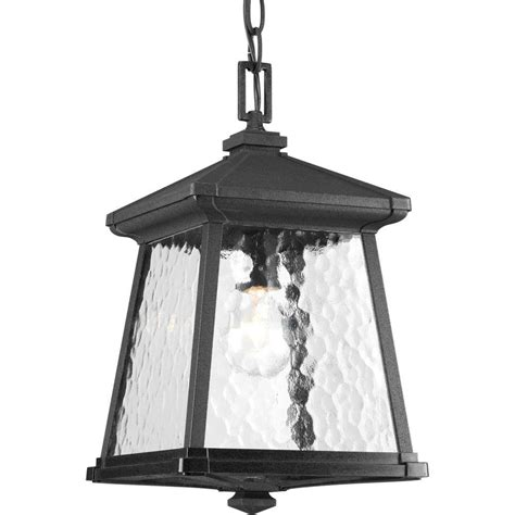 Outdoor Lighting At Home Depot Progress Lighting Mac Collection 1 Light Black Outdoor Hanging Lantern P5559 31 The Home Depot