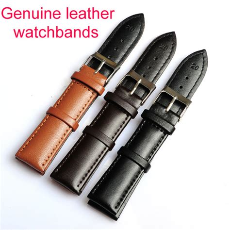 High Quality Leather Snks 18mm 20mm 22mm Tali Jam Kulit Asli wholesale high quality 30pc lot 18mm 20mm 22mm genuine leather watchband waterproof straps
